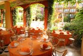 "Banqueting and events:Patio in ""Piazza Erbe"" (Herbs Square)"