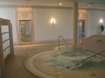 Indoor pool with whirlpool section